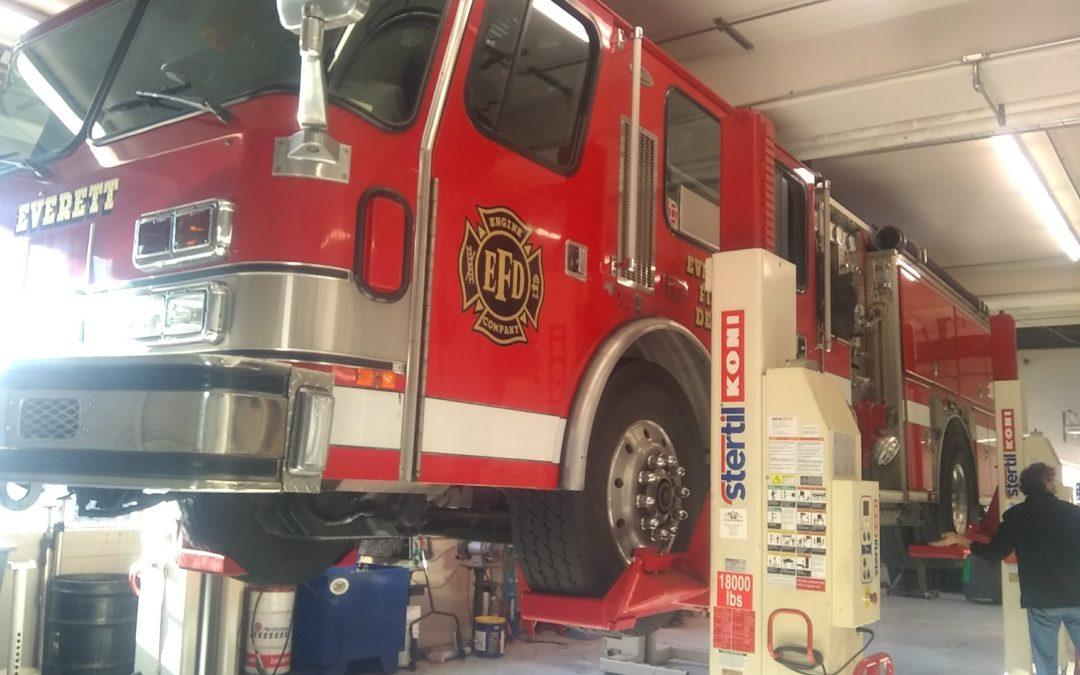 Firetruck Axle Swing Arm Repair