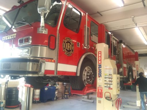 Firetruck Axle Swing Arm Repair